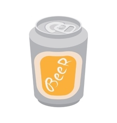 Beer can cartoon icon vector