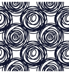 Hand drawn seamless indigo scribble swirl texture vector