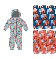 Republican baby childrens clothing republican vector
