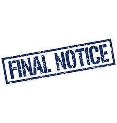 Final notice stamp vector
