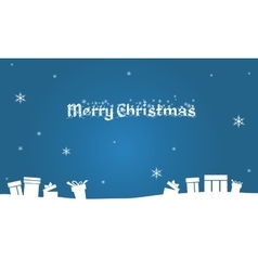 Silhouette of christmas gift backgrounds vector