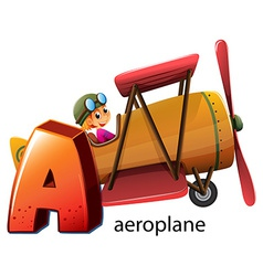 A letter a for aeroplane vector