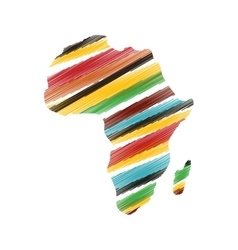 Africa map silhouette vector image