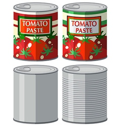 Aluminum can with and without label vector image