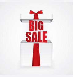big sale with a christmas gift box vector image