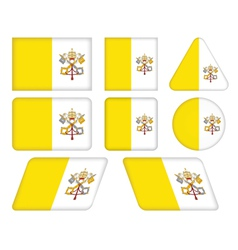 buttons with flag of Vatican vector image