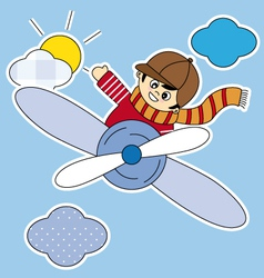 child plane vector image vector image
