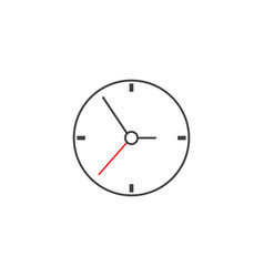 clock flat icon time and watch graphics vector image vector image