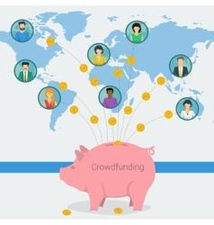 Crowdfunding concept web banner vector