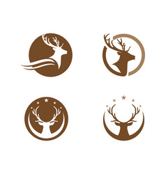 Deer logo template icon design vector
