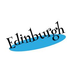 Edinburgh rubber stamp vector