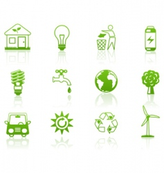 environment green vector image