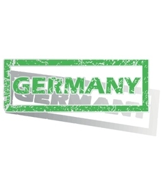 Green outlined germany stamp vector