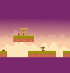 Ground for game background style vector