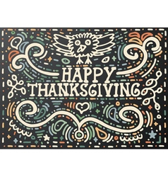 Happy Thanksgiving Greeting card lettering vector image
