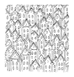 houses sketch art design vector image