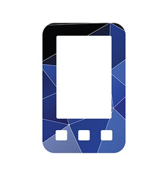 mobile phone icon Abstract Triangle vector image vector image