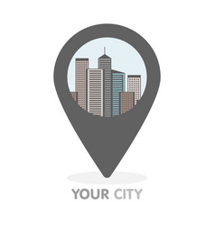 modern city thin line in pointer logo concept vector image