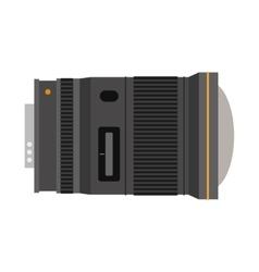 Photo optic lens vector image