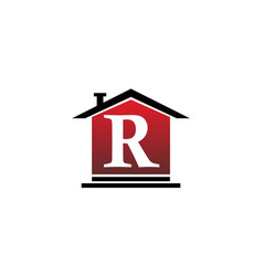 real estate initial r vector image vector image