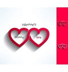 Set of valentines infinite love signs made vector