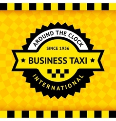 Taxi symbol with checkered background - 03 vector
