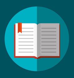 Text book school supply vector