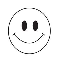 thin line smile emoticon icon vector image vector image