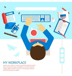 Top view office man vector image vector image