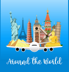 Travel poster explore world vector