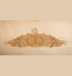 wedding ornament vector image vector image