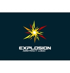 Abstract logo for business company Explosion vector image