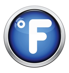 Fahrenheit degree icon vector image