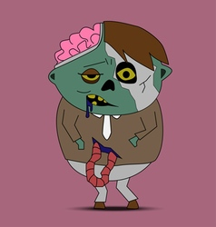 Zombie cartoon vector