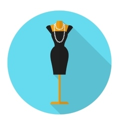 Fashion mannequin flat icon vector
