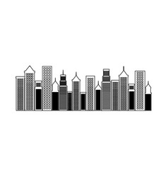 Cityscape buildings isolated icon vector