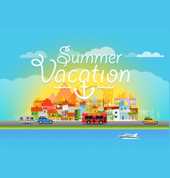 travel summer vacation travel vector image