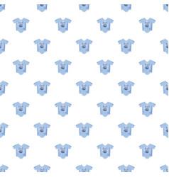 Infant bodysuit pattern vector