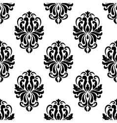 Classic black and white damask seamless pattern vector