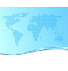 Dotted world map on a technological background vector