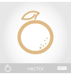 Orange icon vector