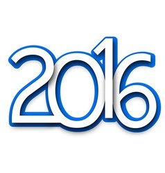 2016 new year sign vector