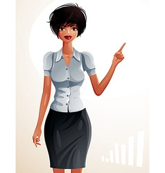A young pretty businesswoman with a modern hairc vector