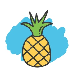 Cartoon doodle pineapple vector