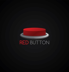 Red button template vector