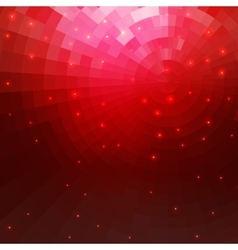 Abstract red concentric circle shine mosaic vector