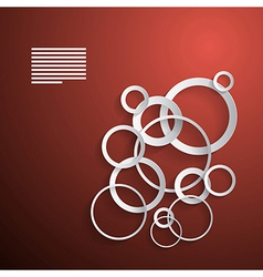 Abstract Background Made from Paper Cut Circles on vector image vector image