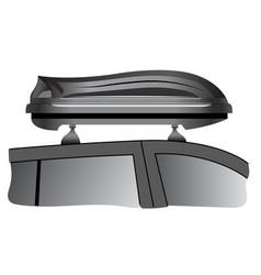 car roof box vector image