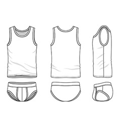 Clothing set vector image vector image