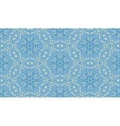 Elaborate blue fantasy flower seamless pattern vector